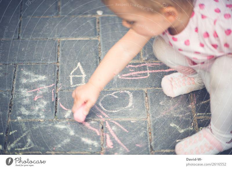 Feinmotorik Kindererziehung Bildung lernen Mensch feminin Kleinkind Kindheit Leben Gesicht Hand Finger 1 1-3 Jahre Kunst Künstler entdecken Freude Fröhlichkeit