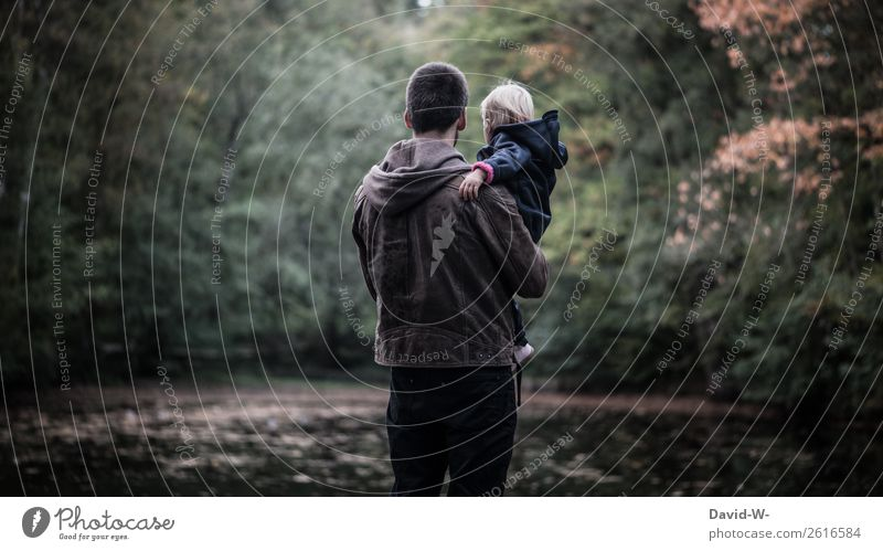Verlassen | und dann kamen wir Kind Mensch Natur Mann Einsamkeit Wald Mädchen dunkel Erwachsene Leben Herbst Umwelt Liebe Familie & Verwandtschaft Stil See