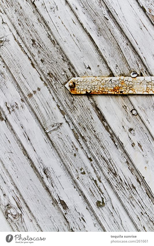Holztor alt weiß gelb grau Farbstoff Metall Tür gold Streifen verfallen Tor Rost verwittert