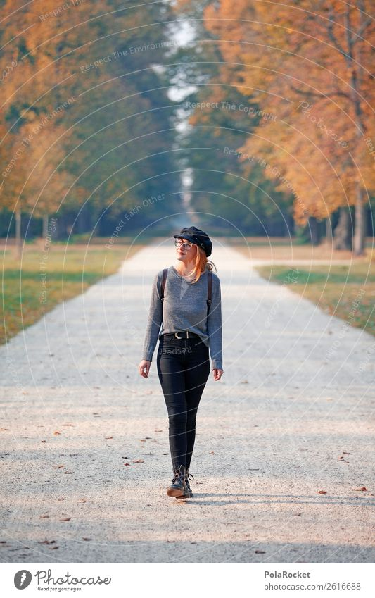 #A# HerbstSpaziergang 1 Mensch ästhetisch Allee herbstlich Herbstlaub Herbstfärbung Herbstbeginn Herbstwald Herbstwetter Herbstlandschaft Herbststurm Herbstwind