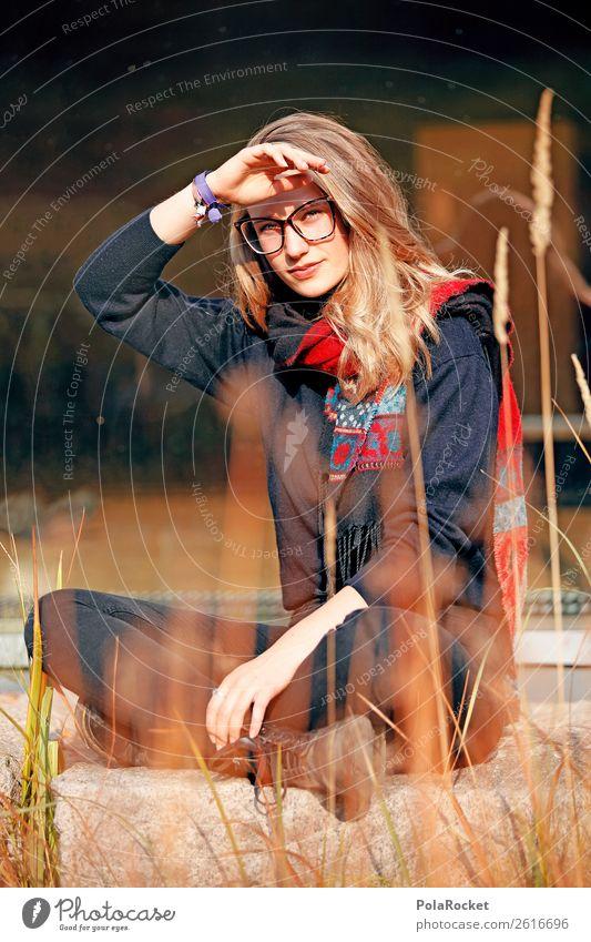 #A# Gegenlicht Kunst ästhetisch Mode Model Modellfigur sitzen Studium Sonnenstrahlen Sommer Herbst herbstlich Herbstlaub Herbstfärbung Herbstbeginn Herbstwetter
