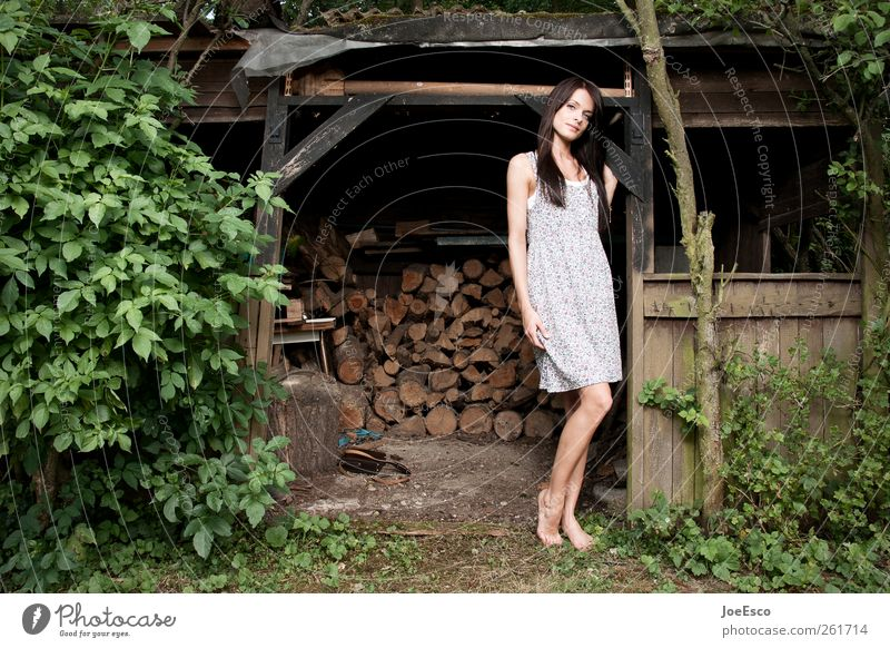 #261714 Wohlgefühl Zufriedenheit Erholung ruhig Freizeit & Hobby Sommer Häusliches Leben Garten Frau Erwachsene Natur Pflanze Baum Sträucher Park Mode Kleid