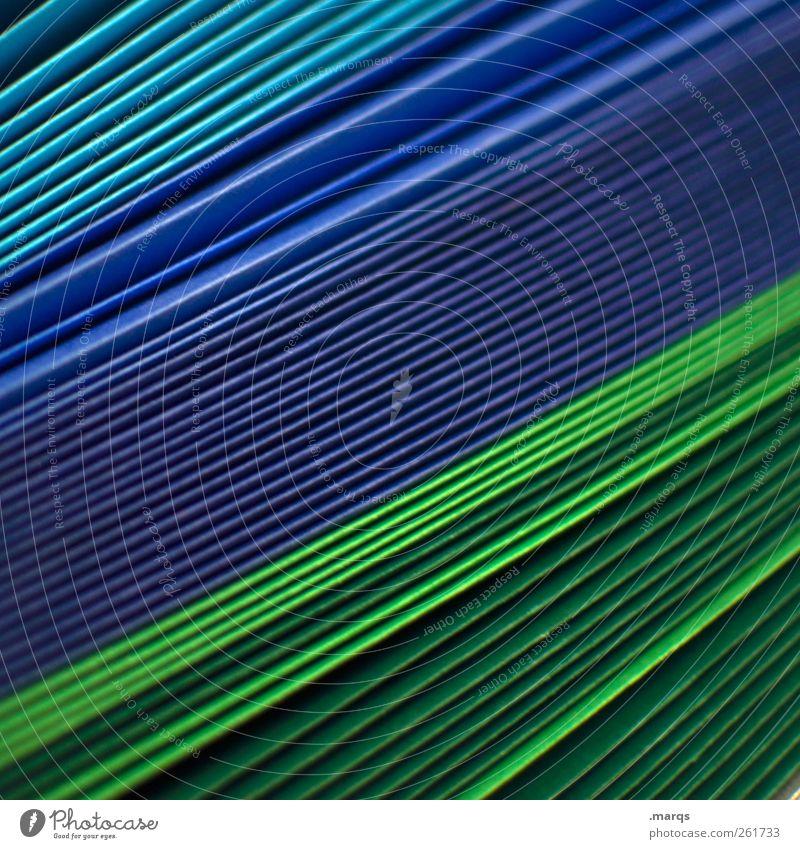 Quer Güterverkehr & Logistik Werbebranche Dekoration & Verzierung Papier Linie blau grün Farbe Ordnung viele Basteln Kreativität Schreibwaren Design gestalten