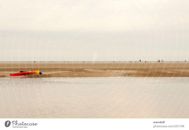 ________________ Mensch Himmel schön Sommer Wasser Freude Ferne Strand Umwelt Denken Sand Horizont Zufriedenheit Freizeit & Hobby beobachten Romantik
