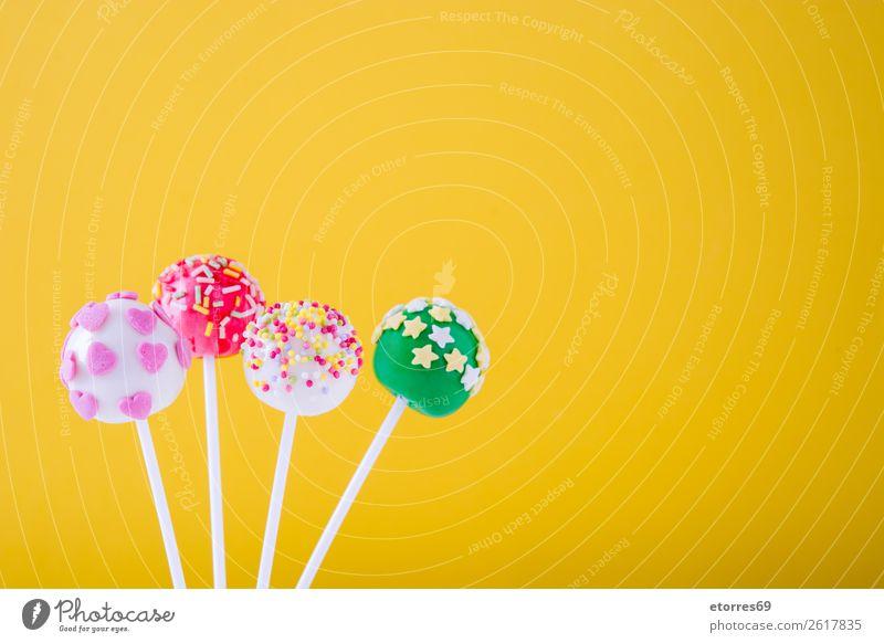 Farbe weiß Foodfotografie Freude Lebensmittel gelb rosa hell Dekoration & Verzierung süß Süßwaren Kuchen Backwaren Bonbon Dessert Ball