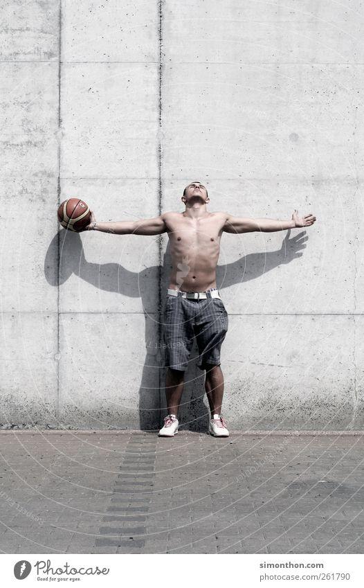 basketballer Mensch Jugendliche Erwachsene Sport Körper Kraft maskulin Macht 18-30 Jahre Ball stark Fitness Junger Mann Sport-Training Sportler Euphorie