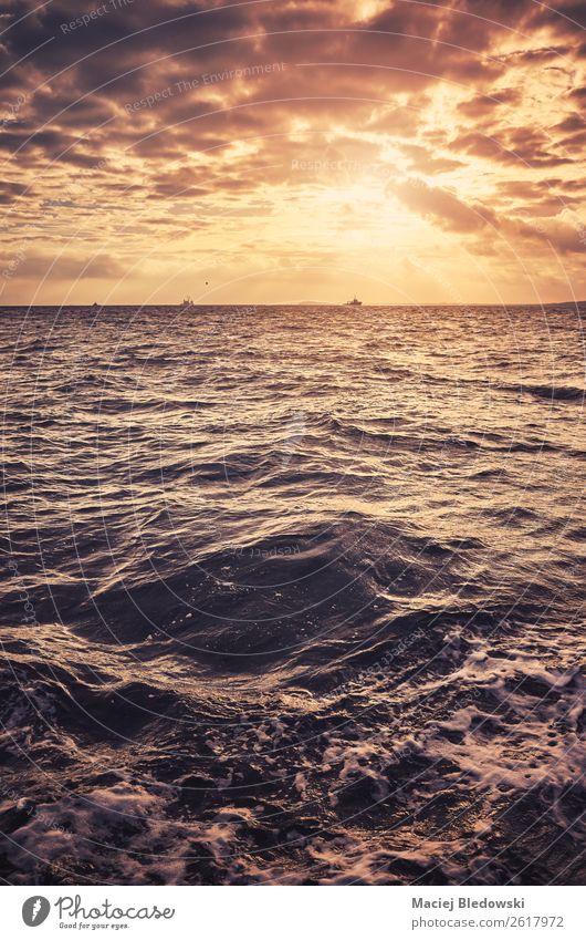 Himmel Ferien & Urlaub & Reisen Natur schön Landschaft Sonne Meer Wolken Ferne Freiheit Ausflug Zufriedenheit Horizont Wetter Wellen Aussicht