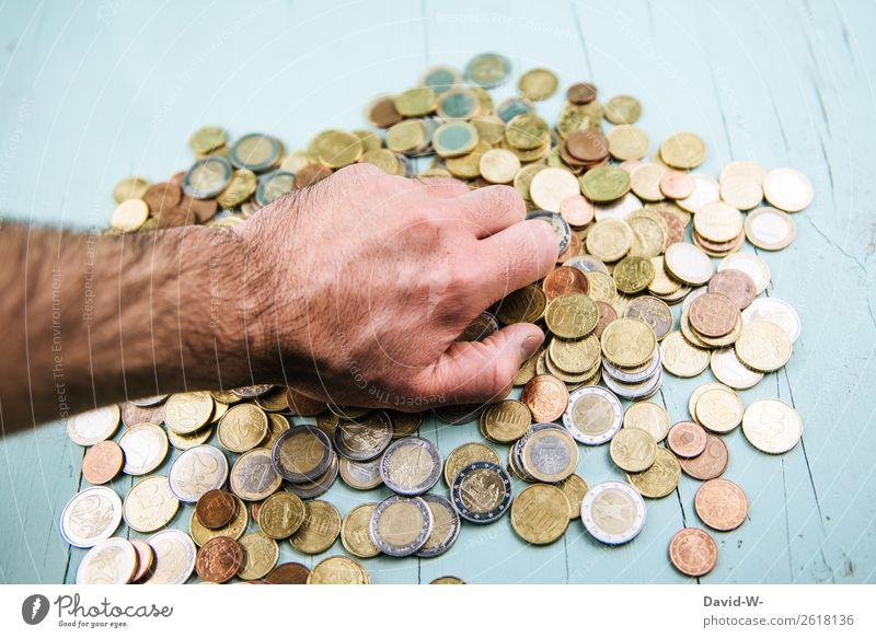 Gier Mensch Mann Hand Erwachsene Leben Glück Stil Business maskulin Erfolg Armut Finger kaufen Geld viele Wunsch