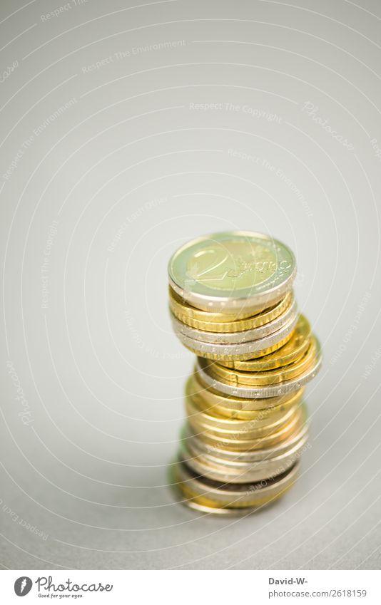 Euromünzen Ferien & Urlaub & Reisen Lifestyle Leben Glück Stil Business Design elegant Armut Zukunft kaufen Studium Geld planen Bildung Geldinstitut