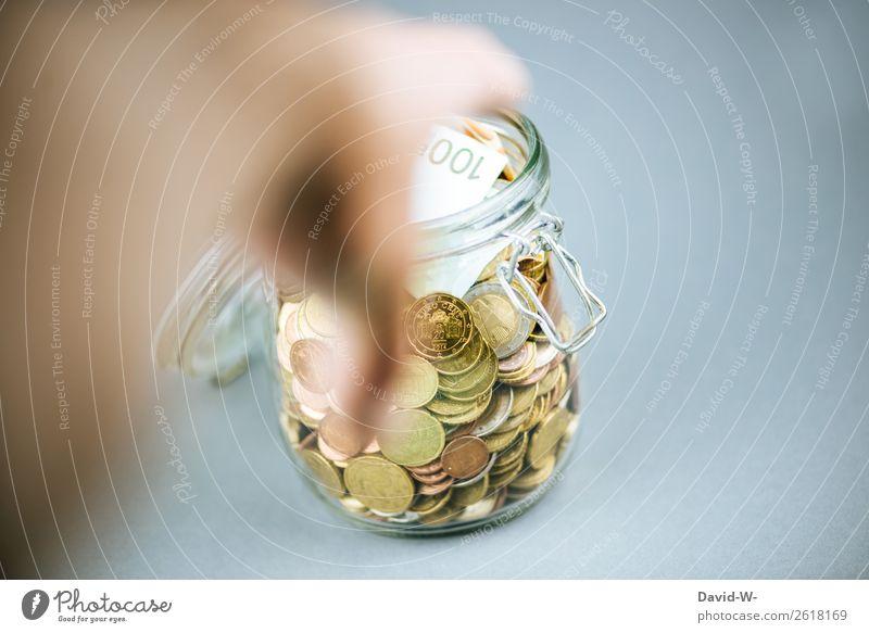 gierig elegant Glück Geld sparen Ferien & Urlaub & Reisen Hausbau Kapitalwirtschaft Geldinstitut Business Mittelstand Karriere Mensch Mann Erwachsene Leben Arme