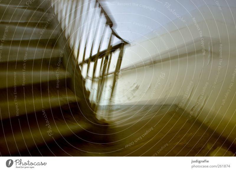 Garnison Haus dunkel Wand Mauer Gebäude Stimmung Angst Treppe bedrohlich Vergänglichkeit Bauwerk gruselig Verfall eckig