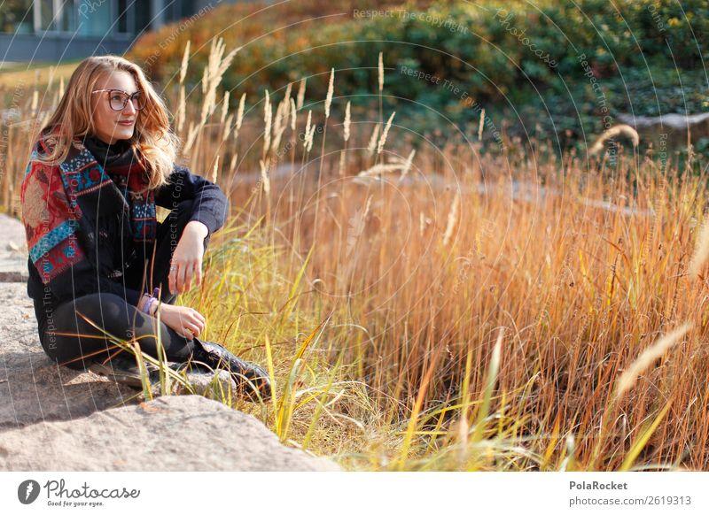 #A9# Sonniger Tag im Studium 1 Mensch Kunst ästhetisch Frau Model Modellfigur Herbst herbstlich Herbstfärbung Herbstbeginn Denken Erscheinung Zukunft