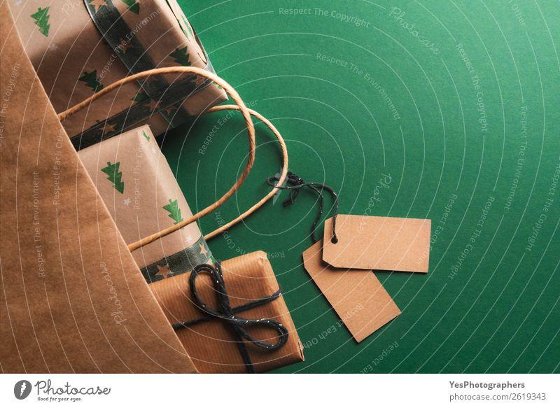 Weihnachten & Advent Textfreiraum braun retro elegant Geburtstag Geschenk viele Tüte Entwurf Mitteilung klassisch blanko Einladung Jahrestag Aufstrich