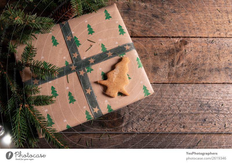 Lebkuchenkeks zum Weihnachtsgeschenk Dessert Dekoration & Verzierung Feste & Feiern Weihnachten & Advent Silvester u. Neujahr grün Tradition Weihnachtskugeln