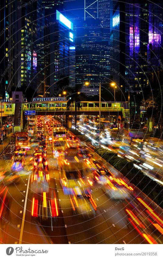 Hong Kong - Way to Wan Chai Hongkong China Asien Stadt Skyline überbevölkert Gebäude Architektur Fassade Berufsverkehr Autobahn Beton gigantisch Stress Bewegung