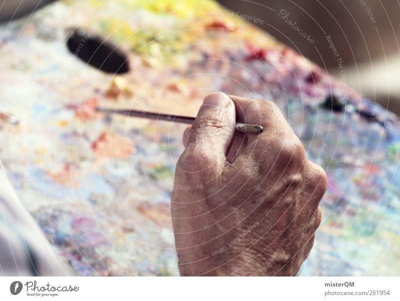Pablo? Hand Senior Farbstoff Kunst Arbeit & Erwerbstätigkeit ästhetisch Pause malen Kreativität Gemälde zeichnen gemütlich Künstler Inspiration Pinsel Kunstwerk
