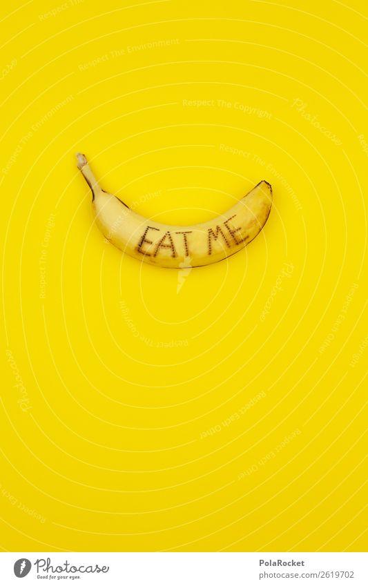 #A# E.A.T. M.E. Kunst ästhetisch Banane Bananenschale Bananenmagazin Vegetarische Ernährung gelb knallig Diät auffordern Essen Eyecatcher Farbfoto mehrfarbig
