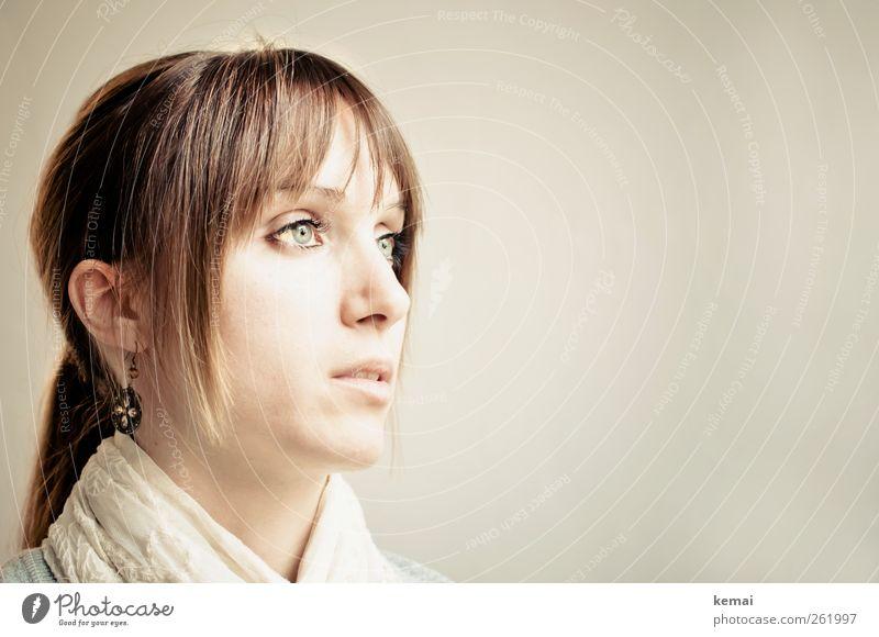 Das Mädchen mit dem Perlenohrring Mensch Frau Jugendliche schön ruhig Gesicht Erwachsene Auge Leben feminin Kopf Haare & Frisuren Stil Denken hell elegant