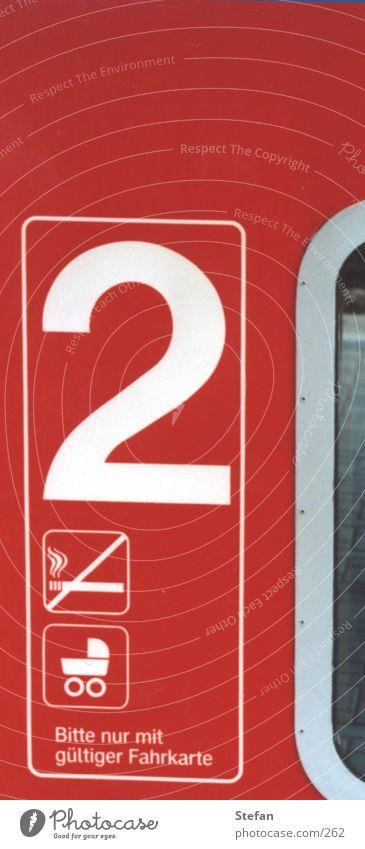 """""""2"""" rot Schilder & Markierungen Eisenbahn Symbole & Metaphern"""