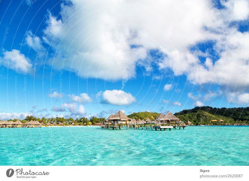 Himmel Ferien & Urlaub & Reisen Natur Sommer blau Landschaft Baum Meer Haus Erholung Strand Küste Tourismus Sand Insel Hotel