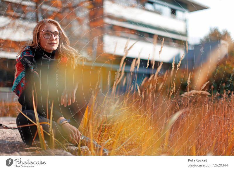 #A# Perspektive Studium Frau Mensch Junge Frau sitzen ästhetisch Zukunft Brille Futurismus Beruf Karriere Berufsausbildung Alltagsfotografie Motivation