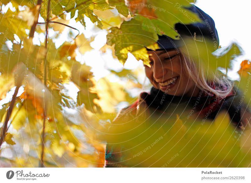 #A# HerbstLächeln Frau lachen Kunst Mode ästhetisch Freundlichkeit Spaziergang entdecken Model Spazierweg Herbstlaub herbstlich Herbstfärbung Herbstbeginn