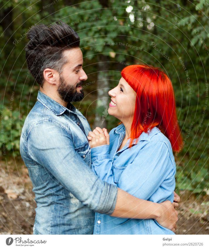 Ein junges Paar von Liebhabern Lifestyle Stil Glück schön Freizeit & Hobby Ferien & Urlaub & Reisen Sommer Frau Erwachsene Mann Familie & Verwandtschaft Natur