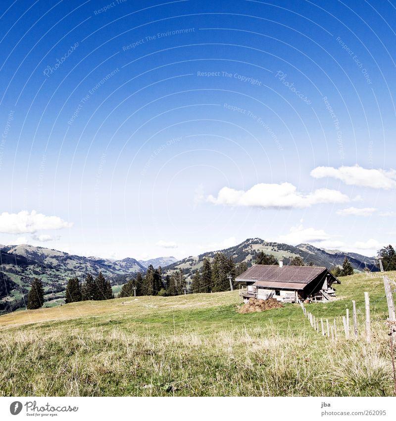 Skipiste im Sommer Himmel Natur Ferien & Urlaub & Reisen Erholung Einsamkeit Landschaft Wolken Berge u. Gebirge Herbst Gras Zufriedenheit warten Schönes Wetter