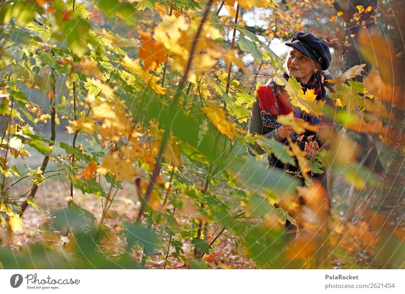 #A# HerbstWald Frau Mensch ästhetisch Spaziergang Spazierweg Herbstlaub herbstlich Herbstfärbung Herbstbeginn Herbstwald Herbstwetter Herbstlandschaft