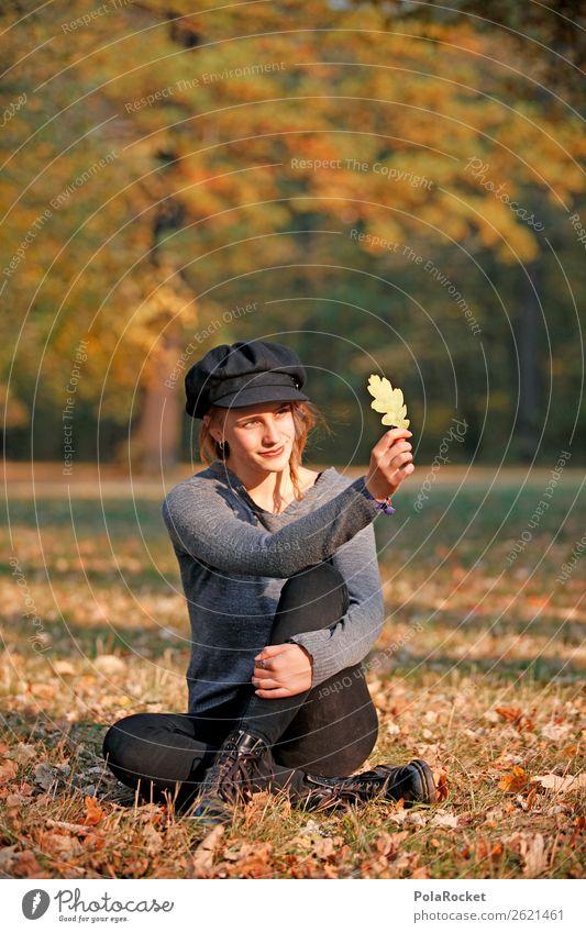 #A# HerbstCheck 1 Mensch ästhetisch herbstlich Herbstlaub Herbstfärbung Herbstbeginn Herbstwald Frau Mode Model Park Farbfoto Gedeckte Farben Außenaufnahme