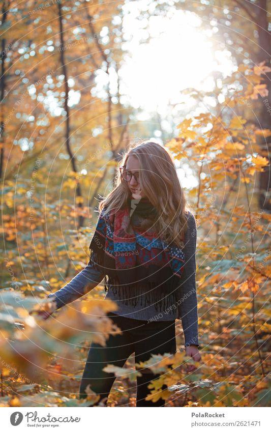 #A# HerbstWald 1 Mensch ästhetisch herbstlich Herbstlaub Herbstfärbung Herbstbeginn Herbstwald Herbstwetter Herbstlandschaft Herbsthimmel Frau Spaziergang