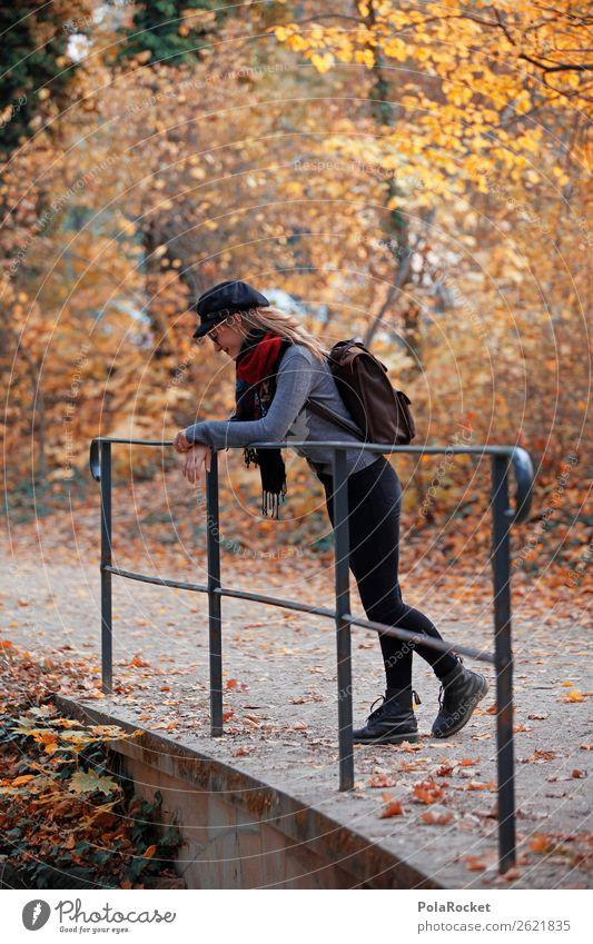 #A# HerbstDuft feminin 1 Mensch ästhetisch Herbstlaub herbstlich Herbstfärbung Herbstbeginn Herbstwald Herbstwetter Herbstlandschaft Herbstwind Spaziergang