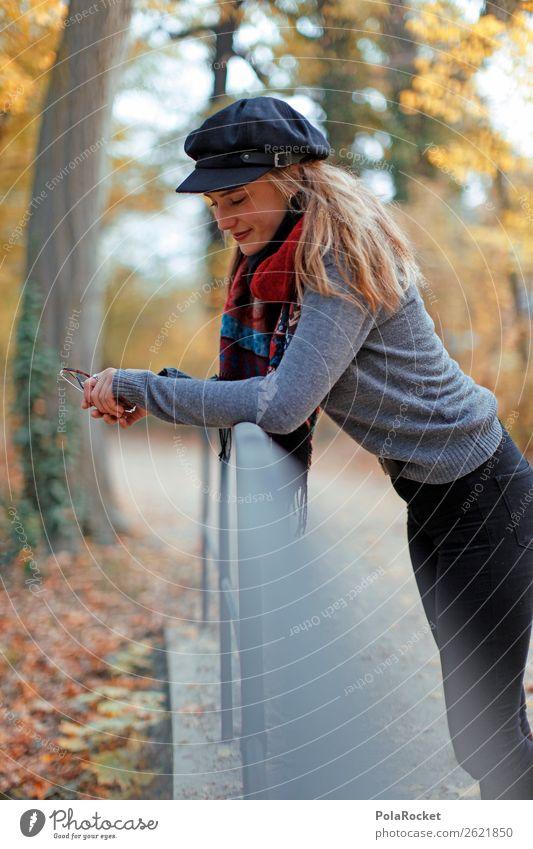 #A# HerbstZeit 1 Mensch ästhetisch herbstlich Herbstlaub Herbstfärbung Herbstbeginn Herbstwald Herbstlandschaft Herbstwetter anlehnen Frau Außenaufnahme