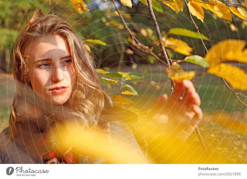 #A# HerbstWind 1 Mensch Kunst ästhetisch Frau Frauengesicht Blick herbstlich Herbstlaub Herbstfärbung Herbstbeginn Herbstwald Herbstlandschaft Herbststurm