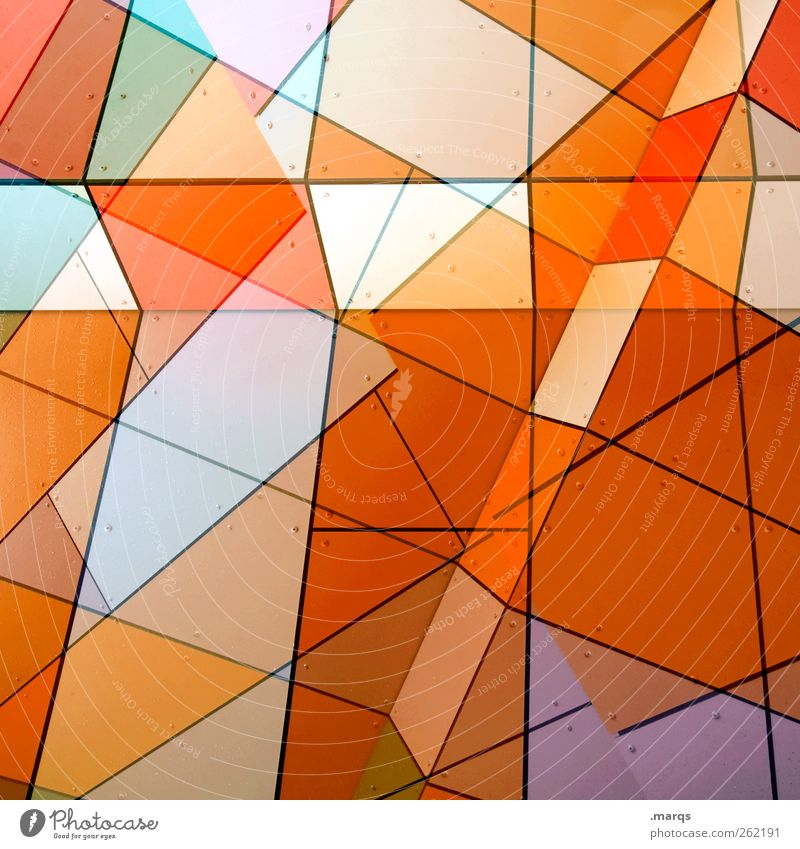 Agent Orange Farbe Stil Linie Kunst orange Fassade Ordnung Design modern außergewöhnlich verrückt Perspektive Dekoration & Verzierung leuchten einzigartig