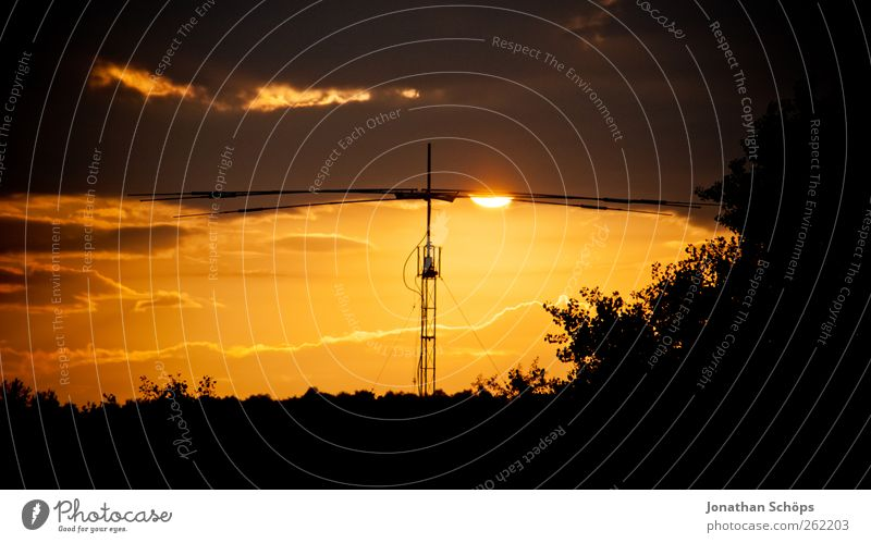 Abendstimmung Ferien & Urlaub & Reisen Ferne Freiheit Sommer Sonne Natur Landschaft Sonnenaufgang Sonnenuntergang Klima Schönes Wetter Wärme Gefühle
