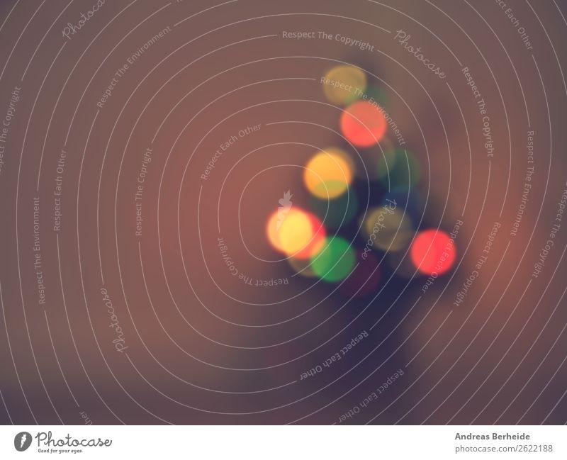 Weihnachtsbaum Stil Winter Dekoration & Verzierung Feste & Feiern Weihnachten & Advent Baum Zeichen retro gelb Tradition blur decoration defocused shiny