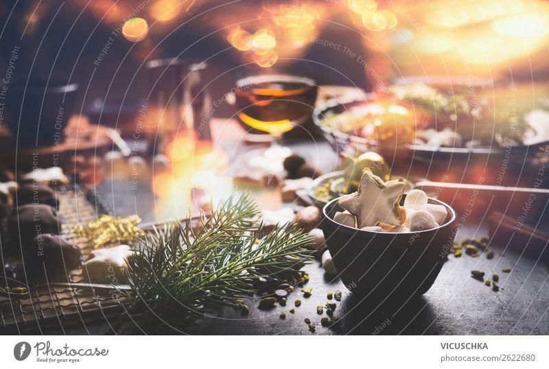 Süße Geschenke für Weihnachten machen Lebensmittel Teigwaren Backwaren Süßwaren Schokolade Festessen Geschirr Stil Design Häusliches Leben