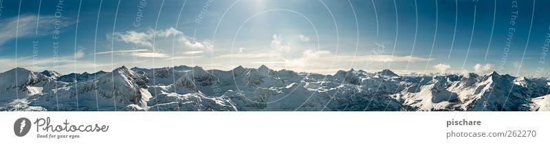 Paradies Winter-Edition Natur Landschaft Schönes Wetter Schnee Alpen Berge u. Gebirge Schneebedeckte Gipfel ästhetisch außergewöhnlich gigantisch blau Freiheit