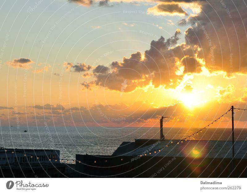 Tel Aviv Yafo Himmel Wasser Ferien & Urlaub & Reisen Stadt schön Meer Wolken Haus Umwelt gelb Wärme Freiheit Luft Horizont gold Klima