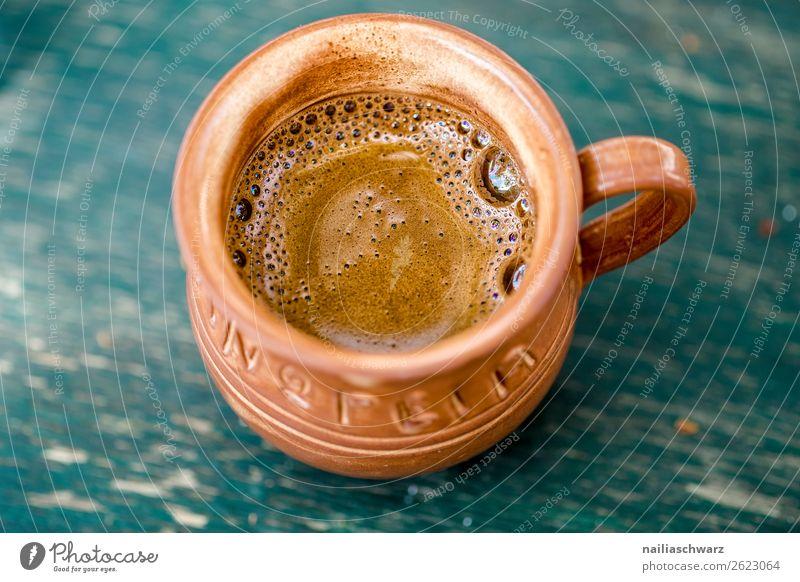 Kaffeepause Ferien & Urlaub & Reisen Sommer blau Lifestyle Holz natürlich Tourismus braun Ernährung Europa genießen einfach lecker Getränk trinken