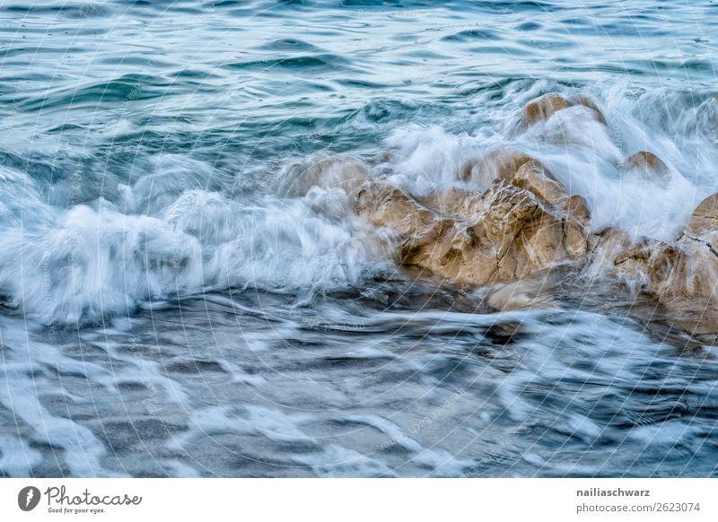 Strand auf Kreta Ferien & Urlaub & Reisen Natur Sommer blau Wasser Landschaft Meer ruhig Wärme Umwelt natürlich Küste braun Felsen Stimmung