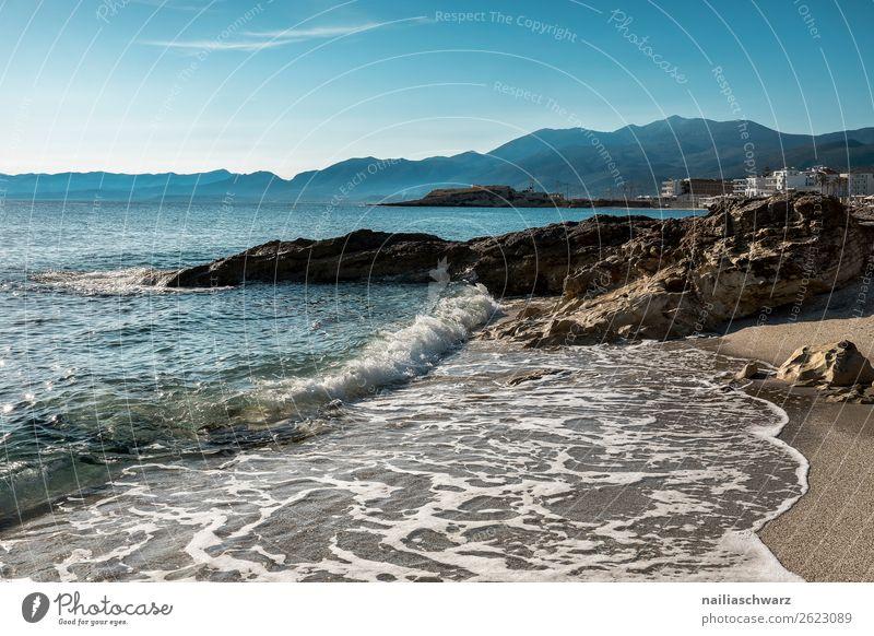 Strand Ferien & Urlaub & Reisen Natur Sommer blau Wasser Landschaft Meer ruhig Ferne Lifestyle Wärme Umwelt natürlich Tourismus Sand