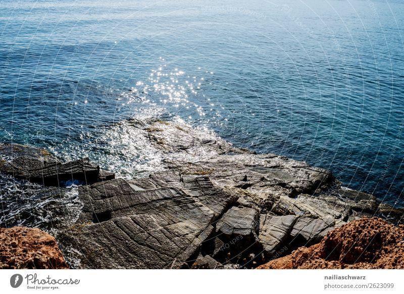 Küste, Crete im Summer Ferien & Urlaub & Reisen Tourismus Sommer Sommerurlaub Strand Meer Insel Wellen Umwelt Natur Landschaft Wärme Felsen Seeufer Bucht