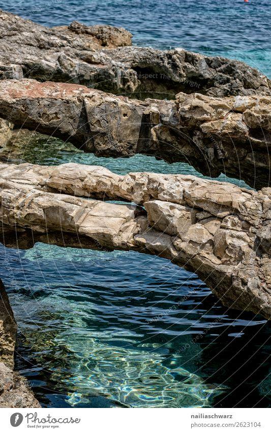 Kreta Ferien & Urlaub & Reisen Sommer Sommerurlaub Strand Natur Landschaft Wasser Schönes Wetter Wärme Felsen Küste Meer Insel Mittelmeer Griechenland frisch
