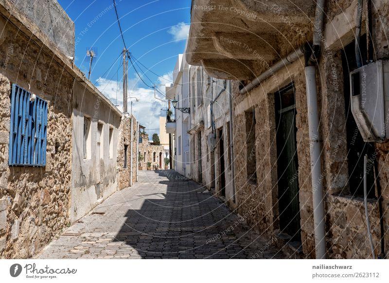 kleine Gasse, Crete Lifestyle Ferien & Urlaub & Reisen Tourismus Ausflug Ferne Sommer Sommerurlaub Griechenland Dorf Kleinstadt Altstadt überbevölkert Haus