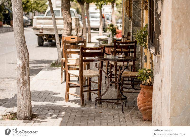 Straßencafé Ferien & Urlaub & Reisen Sommer schön Erholung ruhig Lifestyle Wand natürlich Tourismus Mauer braun Stimmung Ausflug Tisch Idylle authentisch