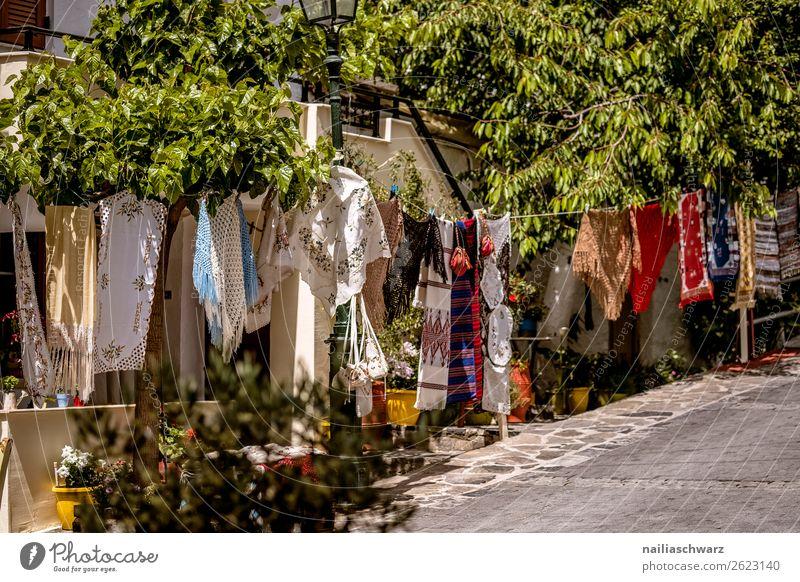 Einkaufsstraße auf Kreta Lifestyle kaufen Handarbeit Ferien & Urlaub & Reisen Tourismus Ausflug Ferne Sommer Sommerurlaub Natur Crete Griechenland Dorf