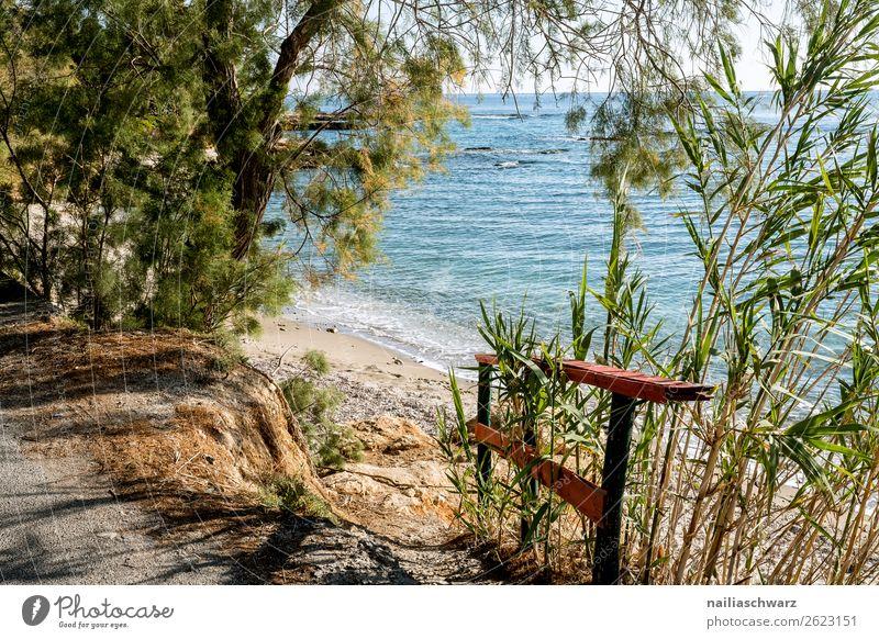 Meer Aussicht, Kreta Ferien & Urlaub & Reisen Natur Sommer Pflanze schön Landschaft Baum Strand Lifestyle Umwelt Küste Tourismus Felsen Sand Ausflug