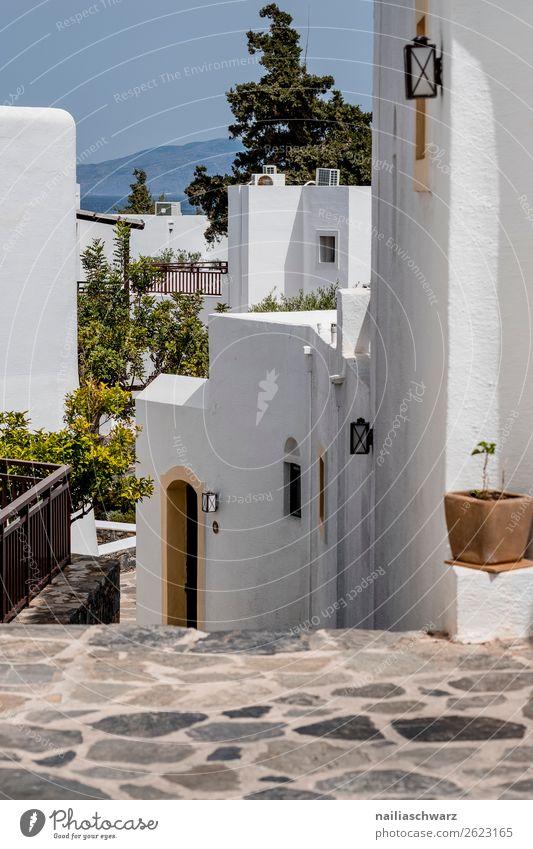 Sommer auf Crete Lifestyle harmonisch ruhig Ferien & Urlaub & Reisen Tourismus Sommerurlaub Natur Meer Insel Griechenland Dorf Fischerdorf Kleinstadt Haus